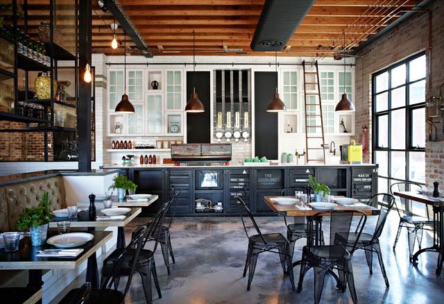 Cafeter a industrial sydney interiores chic blog de decoraci n n rdica - Deco design fabriek ...