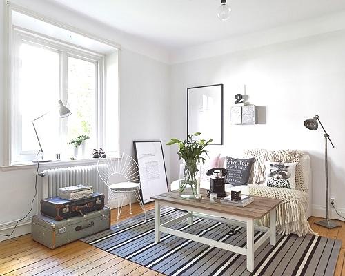 Apartamento para dos en 50m2 interiores chic blog de for Decoracion actual