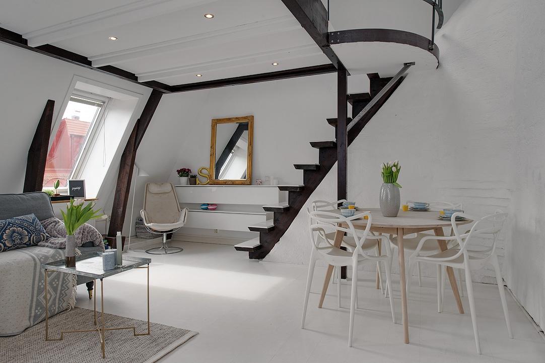 Apartamento en un altillo interiores chic blog de Apartamentos con altillo