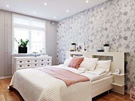Dormitorios con aires n rdicos interiores chic blog de for Papel pintado dormitorio principal