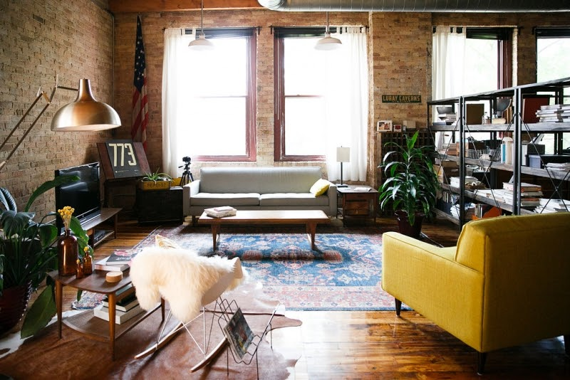 Loft hipster en chicago interiores chic blog de - Ideas para decorar un loft ...