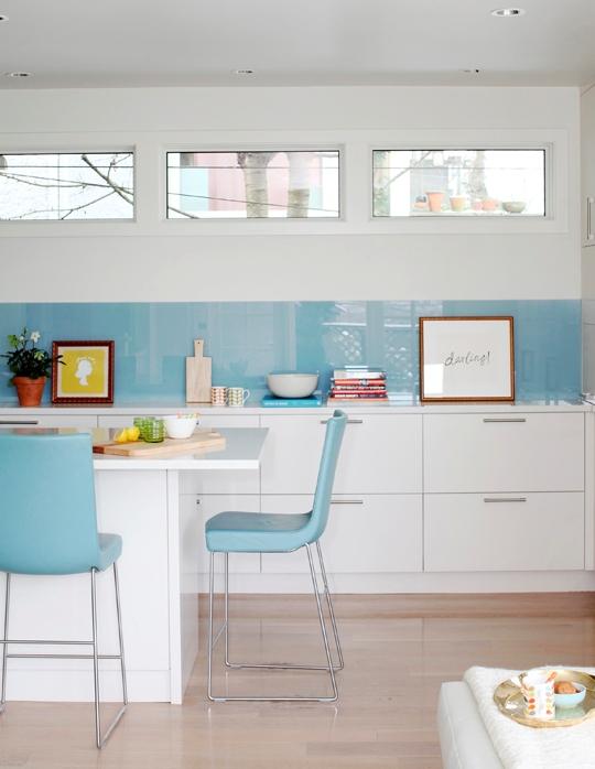 Cristal Cocina | Cristal En El Frente De Cocina Chic Interiores Chic Blog De
