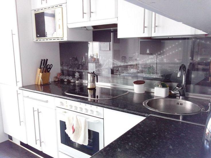 Cristal en el frente de cocina chic interiores chic - Vidrio templado cocina ...