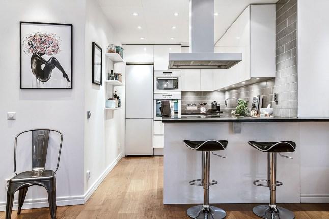 La clave para aprovechar una minicocina interiores chic for Cocina salon espacio abierto