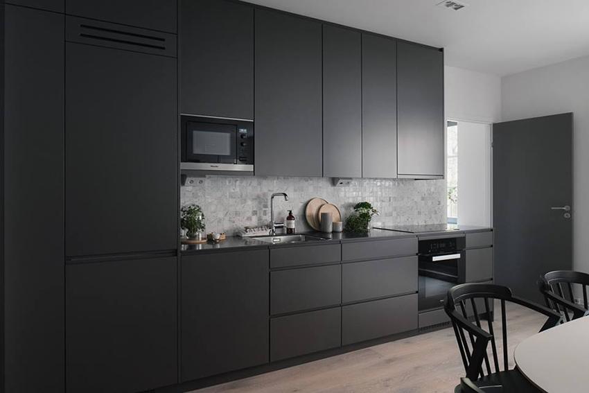 Reformar la cocina invitando a el gris interiores - Molduras para cocinas ...