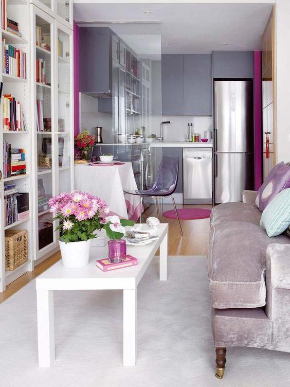 La filosof a de las cocinas abiertas interiores chic - Decorar salones cuadrados ...