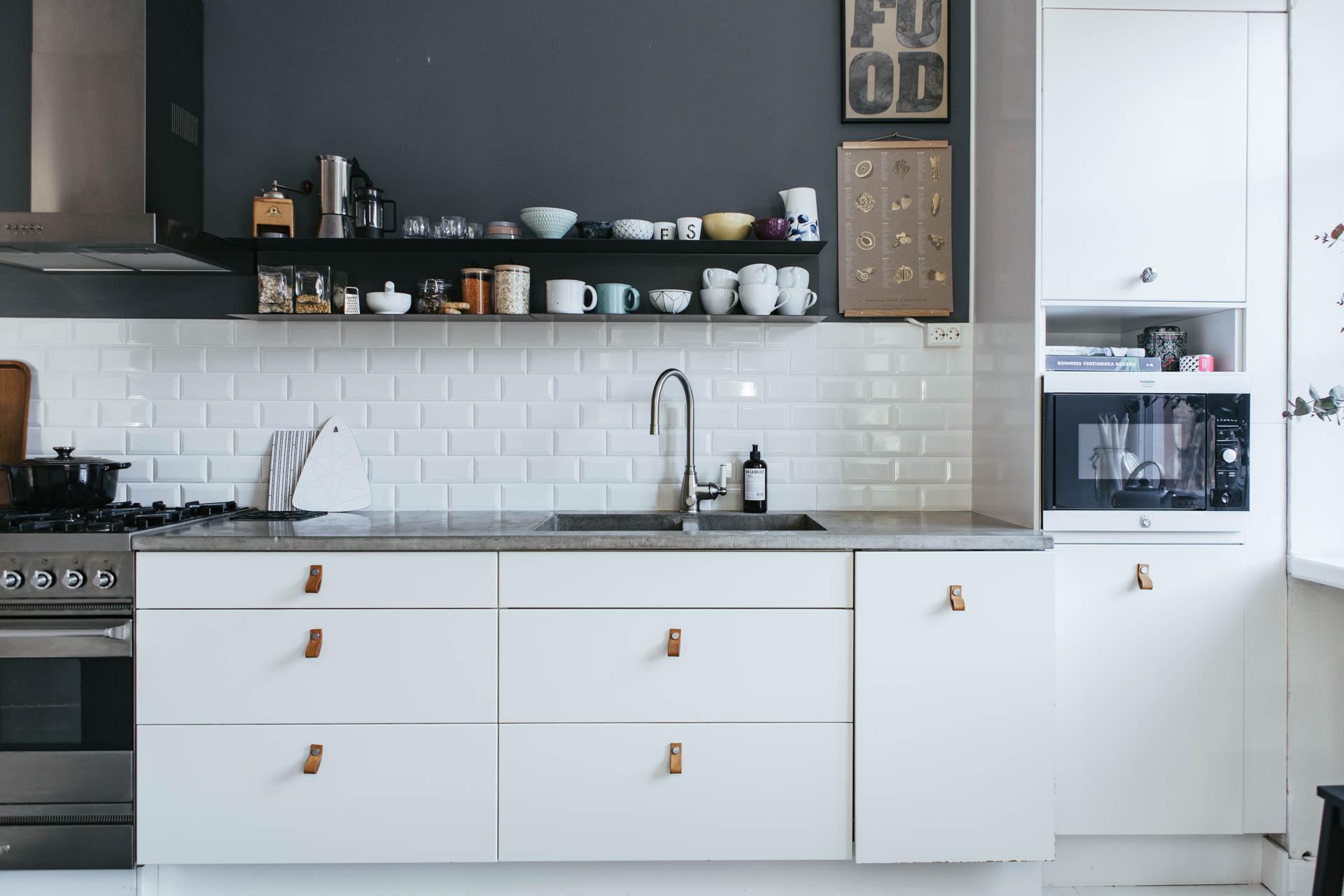 Azulejo biselado para una cocina n rdica interiores - Fotos de azulejos de cocina ...