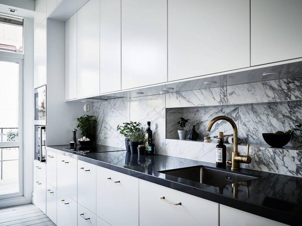 M rmol de carrara y las cocinas n rdicas interiores - Marmol en cocina ...