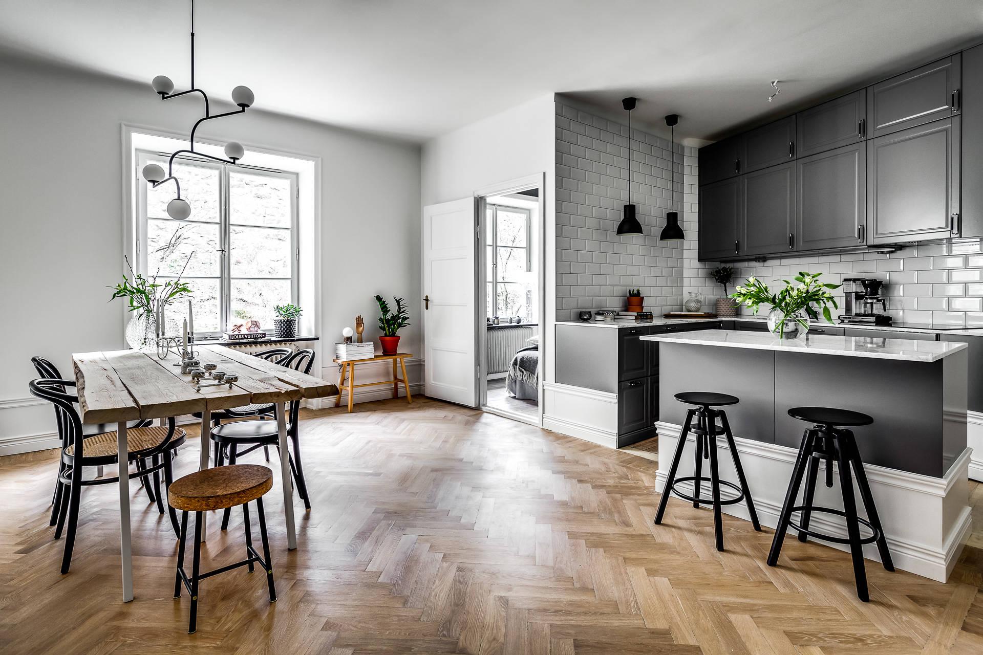 Azulejo biselado para una cocina n rdica interiores chic for Decoracion nordica industrial