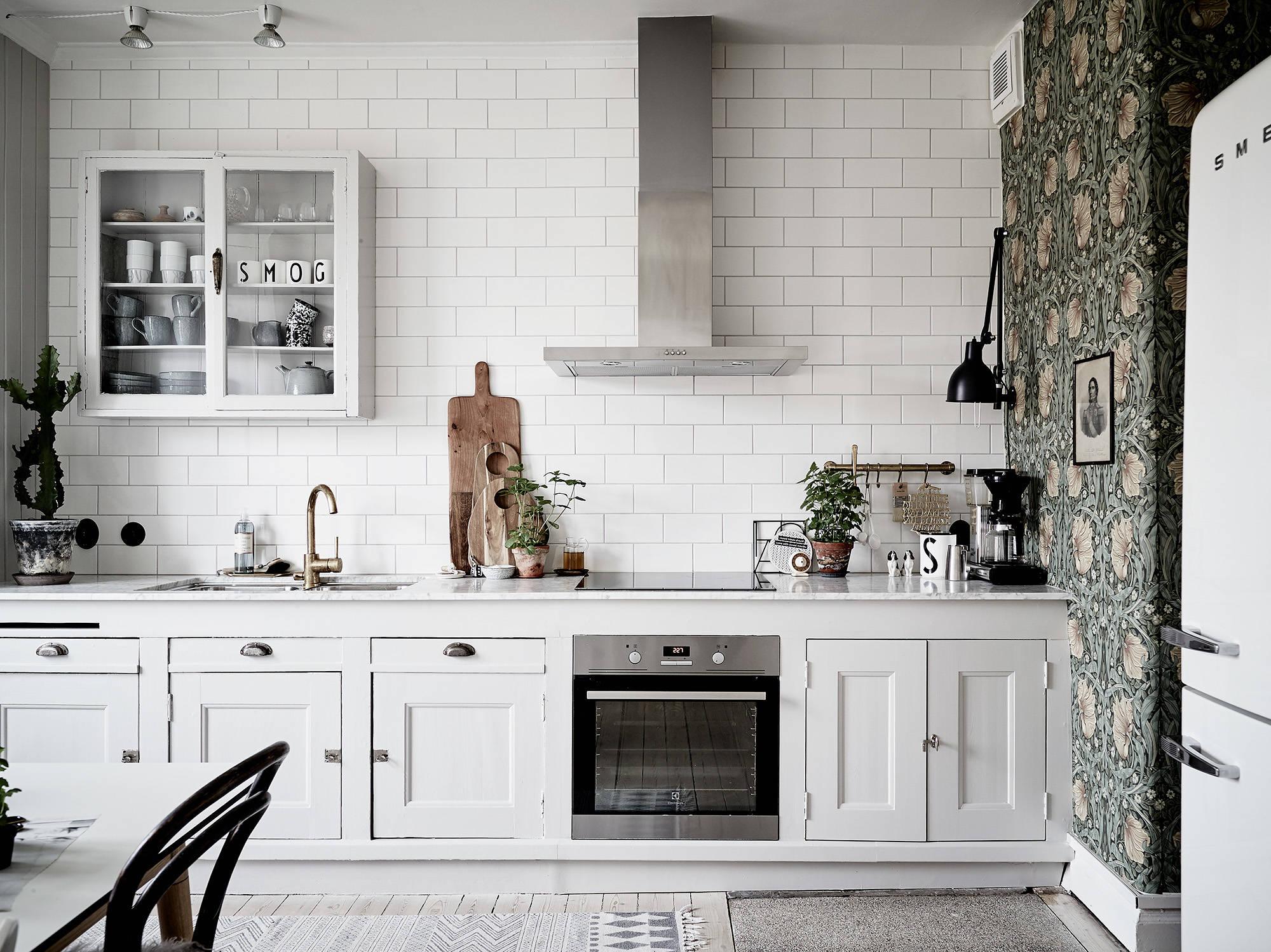 Siiiii al papel pintado en la cocina interiores chic - Papel pintado en cocina ...
