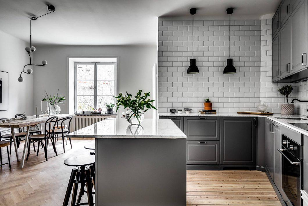 Azulejo biselado para una cocina n rdica interiores chic for Azulejos de cocina de loza