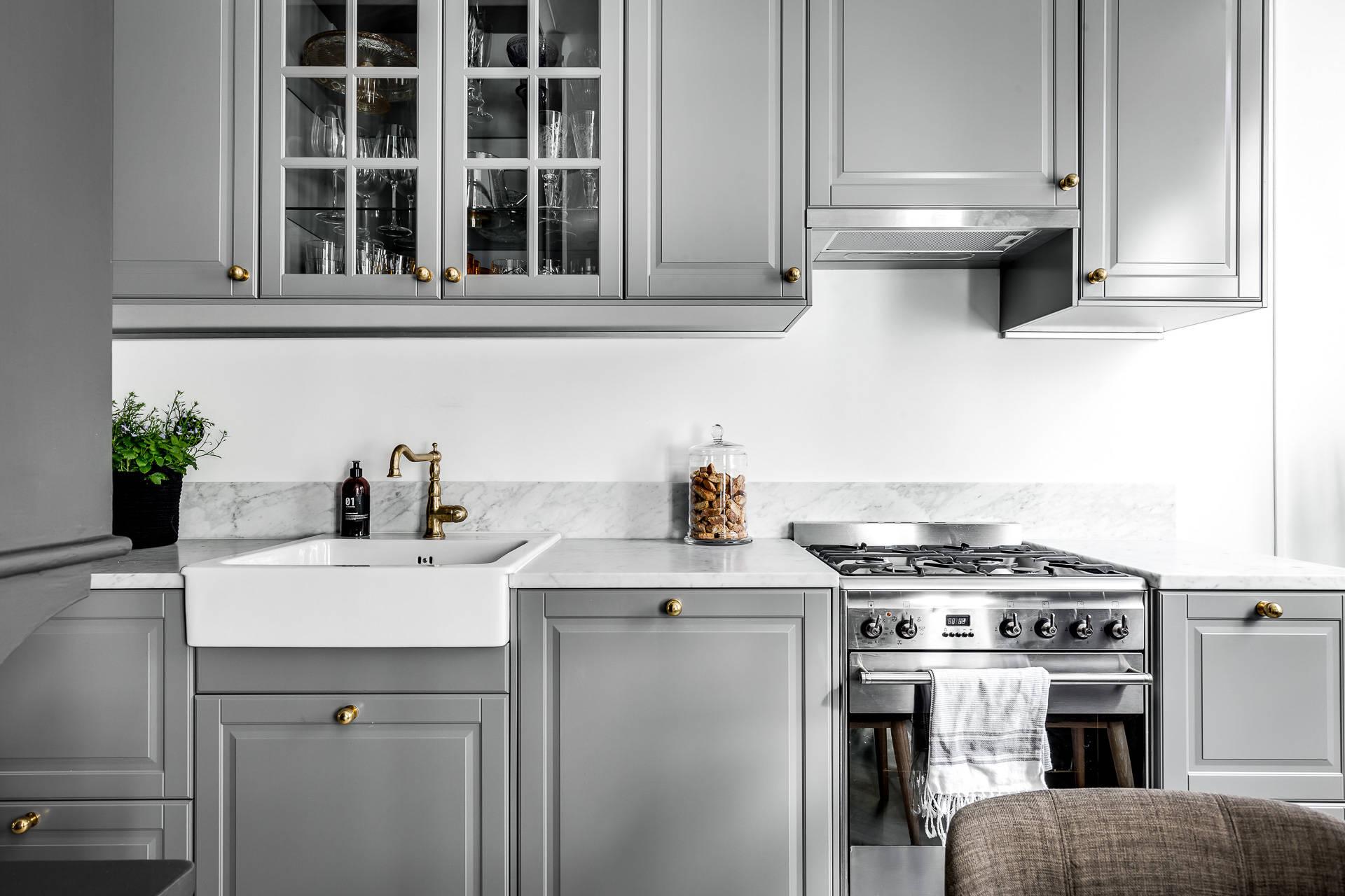 El color gris tendencia en las cocinas n rdicas for Elemento de cocina gris