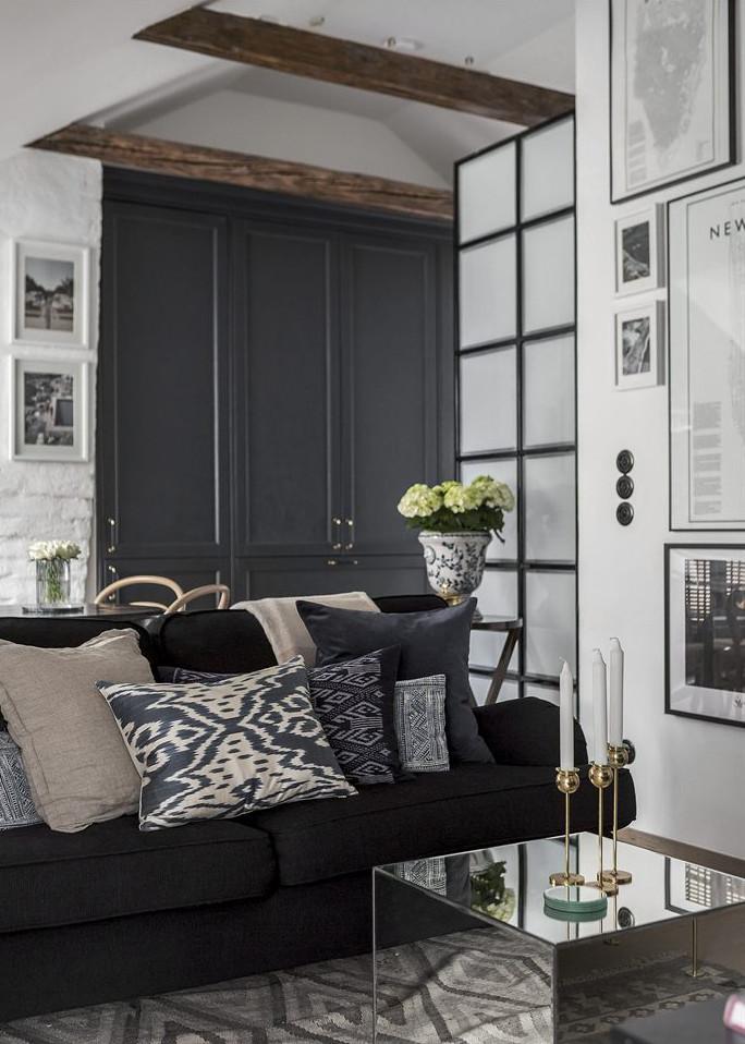 34m2 de dise o escandinavo en blanco y negro interiores for Diseno escandinavo interiores