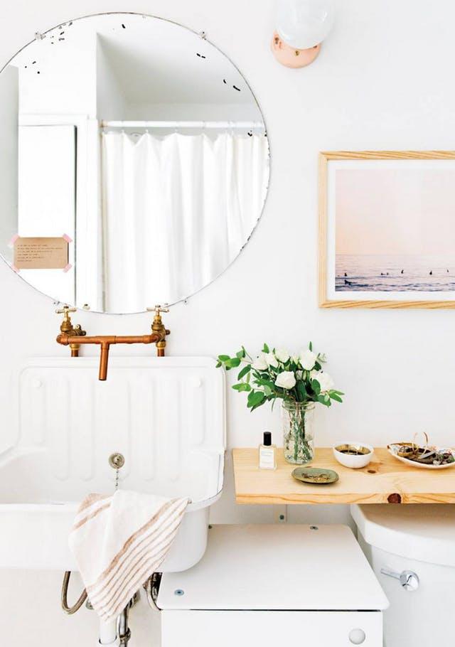 Espejos redondos para el cuarto de ba o interiores chic - Espejo redondo bano ...