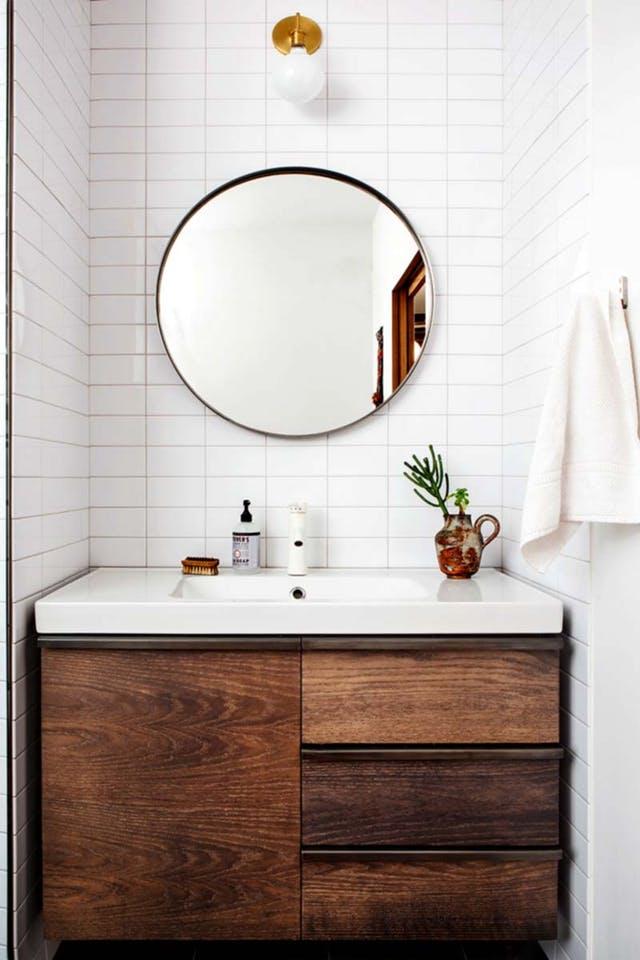 Espejos redondos para el cuarto de ba o interiores chic - Espejos redondos para banos ...
