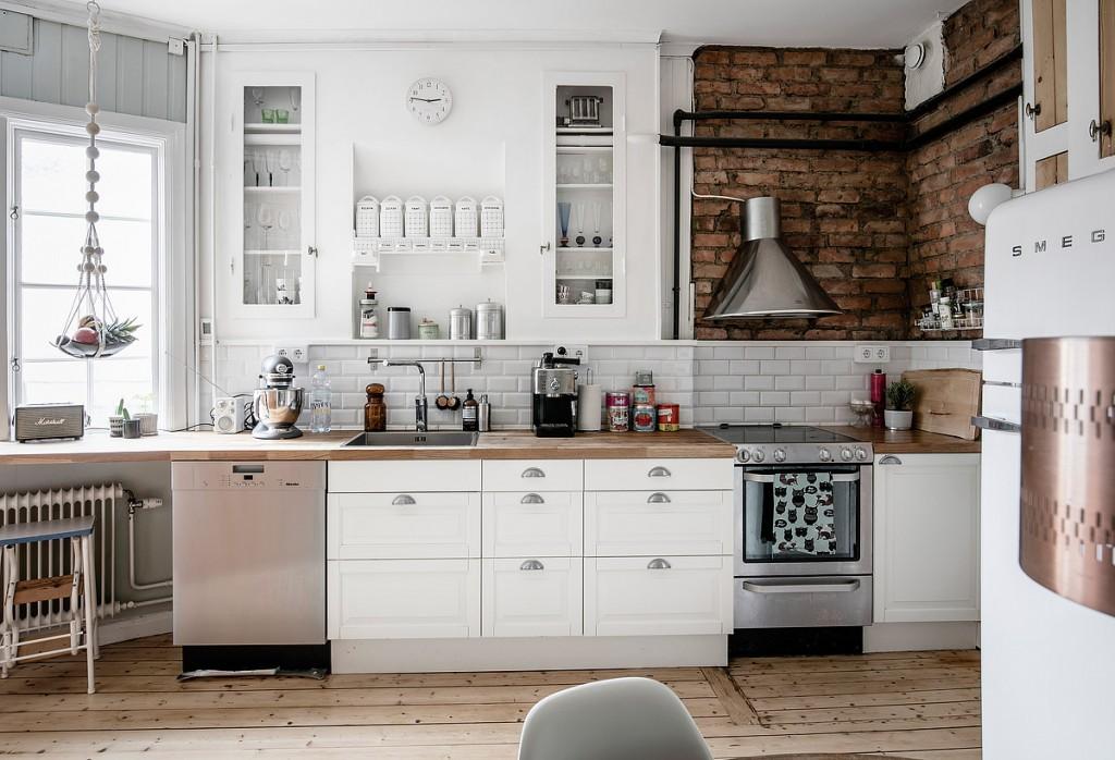 Cocinas de ladrillo rustico se mezcla con los - Cocinas de obra ladrillo visto ...