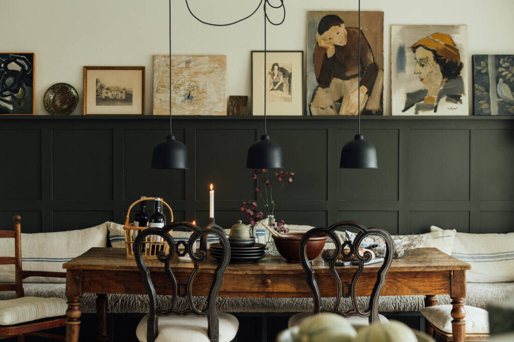 Decoración con un estilo nórdico vintage.